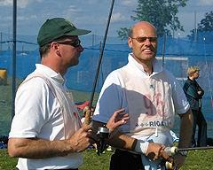 Kastinga pasaules ranga sarakstu līderi Heins Maire-Hensge un Visser Wiebold no Vācijas